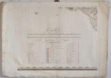Bacler d'Albe: Napoleon/Civitavecchia/Lazio/Montecristo. - Karte um 1800