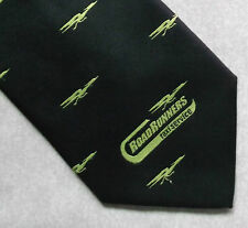 ROAD RUNNERS TAXI SERVICE VINTAGE RETRO TIE COMPANY CORPORATE BLACK 1990s 2000s