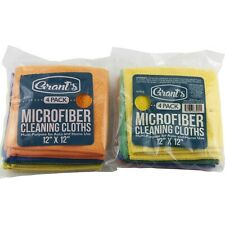 "Grants Microfiber Cleaning Cloths 12"" x 12"" Two Packs Polishing Detail Wax Auto"