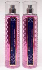 2 Bath & Body Works PINK JASMINE & STRAWBERRY Fine Fragrance Mist Body Spray