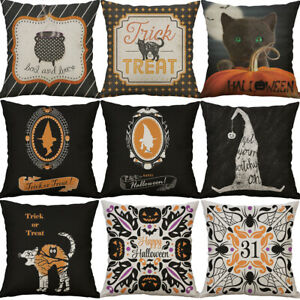 Happy Halloween Trick or Treat Throw pillow cases BOO Cushion Cover Home Decor