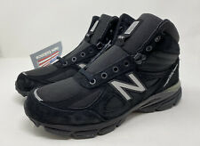 New Balance 990 V4 Mid Made in USA Trail Running MO990BK4 Black Men's Size 9.5