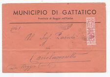 J109-RSI-TARIFFA D'EMERGENZA DA GATTATICO A CASTELNUOVO NE' MONTI