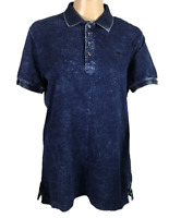 DIESEL   Men's SS Polo Shirt   Faded Look   100% Cotton   Blue   Size S