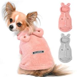 Fleece Dog Pajamas Costume Puppy Coat Clothes Pet Kitten Hoodie Apparel Washable