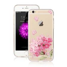 BLUME TULPE Hülle - Apple iPhone 7 PLUS Diamant Silikon Pink Blumen Rose Case 8