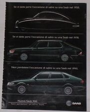 Advert Pubblicità 1993 SAAB 900
