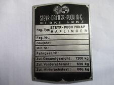 Typenschild  Schild Steyr Puch haflinger  703 AP 703AP  S45