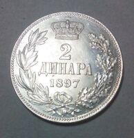 2 dinara 1897, Serbia , king Aleksandar I