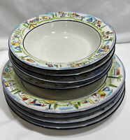 Sakura Provence Designed By Apple Dinnerware Set Plates & Soup Bowls