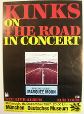 THE KINKS CONCERT TOUR POSTER 1987 LIVE THE ROAD