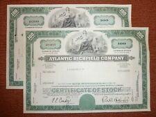 US: OIL: 2 x Atlantic Richfield Co., 1970, 100 Shares