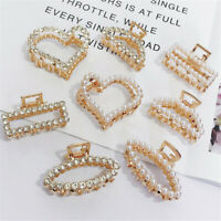 Party Imitation Pearl Hair Claw Clips Geometric Hair Clips Crab Clips For Women