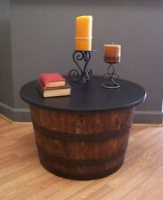 Authentic Real Half Whiskey Barrel Coffee Table-End Table-FREE SHIPPING