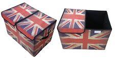 Storage Box with Lid Upholstered Paris Rome England London Box Organiser