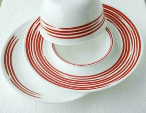 Corelle BRUSHED STROKES 10 3/4 DINNER Plate CRANBERRY RED or SILVER GREY