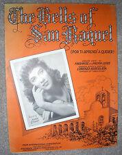 1941 THE BELLS OF SAN RAQUEL Sheet Music BONNIE STUART Barcelata, ENG & SPANISH
