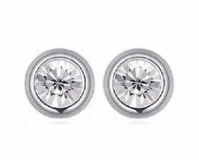 Crystal Stud Pierced Earrings - 5mm - Made with Swarovski Elements - BNIB
