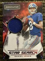 2019 Rookies And Stars Daniel Jones Star Search Jersey Patch Relic Rc Giants