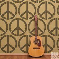 Peace symbol stencil Reusable Art Craft Painting Wall Decor Ideal Stencils