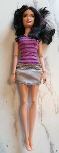 Mattel Fashionistas Raquelle Doll Articulated Purple Hair
