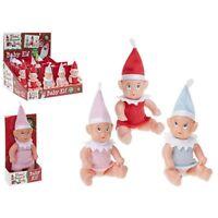 Baby Elves - Elf Sits On The Shelf For Xmas / Christmas Accessory Boy Girl