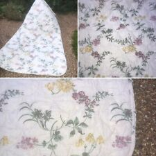 🌟Vintage Large Floral Padded Cotton Quilt Throw Cover Bedspread Bedding