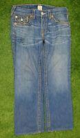 True Religion Stonewash Blue Denim Jeans 'Rainbow Ricky' W34 L