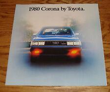 Original 1980 Toyota Corona Deluxe Sales Brochure 80