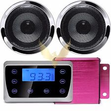 Bluetooth Speakers Stereo Audio System MP3 USB Radio ATV UTV Scooter Marine Boat