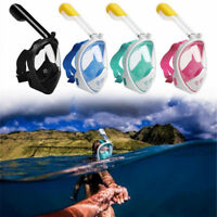 Snorkel Mask Full Face Snorkeling Diving Goggles W/ Breather Pipe For GoPro AU