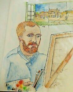 debbi saccomanno Chan Hand Painted Folding Painting Album Van Gogh My Way