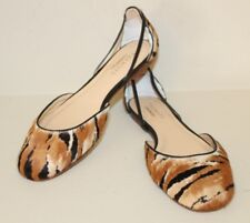 Talbots Womens Jelly Flats Shoes Sz 9 B Calf Hair Tiger Stripe Made in Brazil