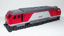 Russian railway diesel locomotive. Metal toy. 1/87 HO scale.