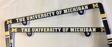 Lot of 2 Michigan Wolverines Car Truck License Plate Frames NEW - THIN PROFILE