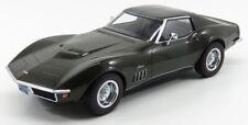 1 18 Norev CHEVROLET Corvette C3 1969 Darkgreen-metallic