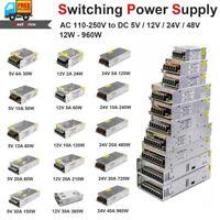 220V to DC 48V 36V 24V 12V Switch Power Supply Adapter Driver for LED Strip 3D