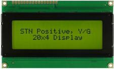 LCD Display Module, 20x4, Yellow / Green - WINSTAR WH2004A-NYG-JT