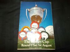 Football Programme Reading vs Manchester United 1970 Watney Cup Round 1