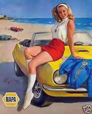 "5x7""photo REPRINT GM CHEVROLET ADVERTISING 1967-69 CAMARO NAPA PINUP GLOSSY"