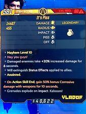 Xbox 1 Borderlands 3 Mayhem 10 Lvl 60 Its Piss Ase FULL ELEMENTAL Set by 2 get 1