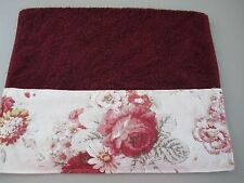 Crimson Red Hand Towels Waverly Norfolk Red Rose French Country Toile Bathroom