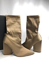YEEZY Satin Stretch Ankle Socks Bootie 10MM ST Size 38.5 Military Light