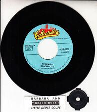 THE BEACH BOYS  Barbara Ann & Little Deuce Coupe 45 record + juke box strip NEW