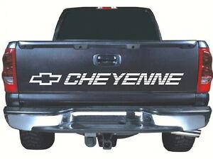 """fits Cheyenne Tailgate 52"""" x 4"""" White vinyl sticker decal chevrolet chevy"""