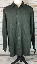 APT. 9 Dress Shirt Mens XXL Modern Fit Button Up Striped Slate Gray/Black NEW