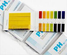 160x Ph Indicator Test Strips 1 14 Laboratory Paper Litmus Tester Urine Sm