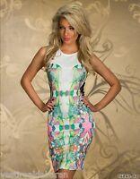 Miniabito Vestitino Donna Vestito  Bodycon Abito AYANAP B876 Made in UK - XS M L