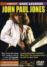 Lick Library Bass Legends John Paul Jones Led Zeppelin Rock lección Guitarra Dvd