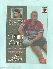 1994  NORTH SYDNEY BEARS  RUGBY LEAGUE ACETATE CAPTAIN'S CHOICE CARD CC4